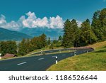 View of the landscape in the Alpine Principality of Liechtenstein - stock photo