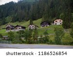 A view of Steg a small village in central Liechtenstein on the road betwen the capital Vaduz and Malbun - stock photo