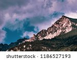 mountains in the alps seen from ... | Shutterstock . vector #1186527193