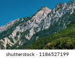 mountains in the alps seen from ... | Shutterstock . vector #1186527199