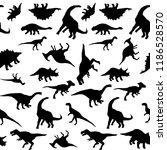 vector dinosaurs silhouette... | Shutterstock .eps vector #1186528570