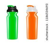 plastic shaker on white... | Shutterstock .eps vector #1186534693