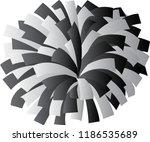 black and white cheerleader pom ... | Shutterstock .eps vector #1186535689