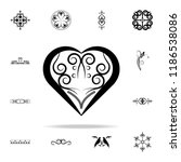 heart ornament icon. ornaments... | Shutterstock .eps vector #1186538086