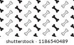 dog bone seamless pattern... | Shutterstock .eps vector #1186540489