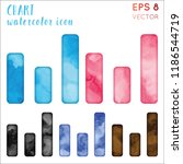 chart watercolor icon set.... | Shutterstock .eps vector #1186544719