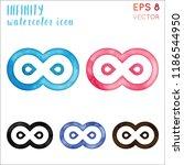 infinity watercolor icon set.... | Shutterstock .eps vector #1186544950