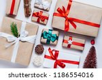 christmas composition of... | Shutterstock . vector #1186554016