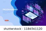 technology concept. programming ... | Shutterstock .eps vector #1186561120