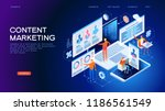 technology concept. content... | Shutterstock .eps vector #1186561549