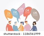 people chat in social network.... | Shutterstock .eps vector #1186561999