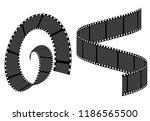 set of film strip frame  vector ... | Shutterstock .eps vector #1186565500