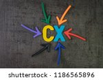 cx  customer experience concept ... | Shutterstock . vector #1186565896
