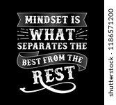 mindset is what separates the... | Shutterstock .eps vector #1186571200