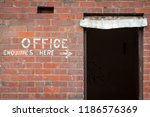 old painted sign  office... | Shutterstock . vector #1186576369