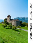 beautiful architecture at vaduz ... | Shutterstock . vector #1186578550