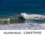 frothy foaming white backwash... | Shutterstock . vector #1186579450