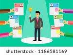 leadership with best light bulb ...   Shutterstock .eps vector #1186581169