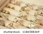 jewelry diamond rings and...   Shutterstock . vector #1186588369