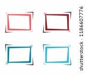set of bright frames for text... | Shutterstock .eps vector #1186607776