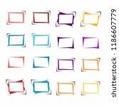 set of bright frames for text... | Shutterstock .eps vector #1186607779
