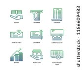 banking and finance icons | Shutterstock .eps vector #1186609483