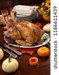roasted pepper turkey for...   Shutterstock . vector #1186611439