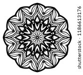 oriental mandala. vintage... | Shutterstock .eps vector #1186613176