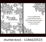 invitation greeting card with... | Shutterstock . vector #1186620523