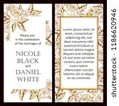 romantic wedding invitation... | Shutterstock .eps vector #1186620946
