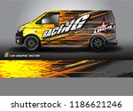 car decal design vector.... | Shutterstock .eps vector #1186621246