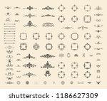 vintage set exclusive borders... | Shutterstock .eps vector #1186627309