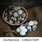 quail eggs on a background | Shutterstock . vector #1186627609