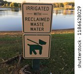signs at park that read ... | Shutterstock . vector #1186628029