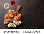 brushetta or traditional... | Shutterstock . vector #1186630936