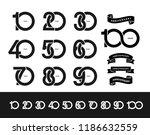 set of anniversary pictogram... | Shutterstock .eps vector #1186632559