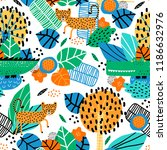 seamless pattern with cute... | Shutterstock .eps vector #1186632976