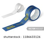 white matte tape roll. photo... | Shutterstock .eps vector #1186633126