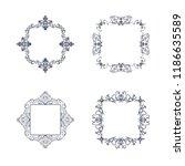vintage set exclusive borders... | Shutterstock .eps vector #1186635589