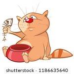 vector illustration of a cute... | Shutterstock .eps vector #1186635640