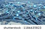 network of transportation...   Shutterstock . vector #1186635823