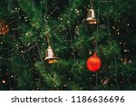 vintage christmas tree with... | Shutterstock . vector #1186636696