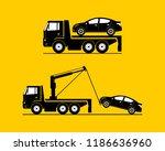tow truck towing car template... | Shutterstock .eps vector #1186636960