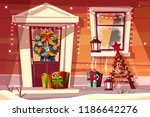 house with christmas... | Shutterstock .eps vector #1186642276