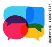different color speech bubbles  ...   Shutterstock .eps vector #1186649989