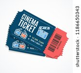 cinema movie tickets set with... | Shutterstock .eps vector #1186650343