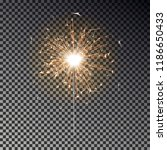 burning sparkler isolated.... | Shutterstock .eps vector #1186650433