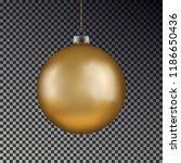 christmas gold ball handing on... | Shutterstock .eps vector #1186650436