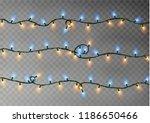 christmas color lights string....   Shutterstock .eps vector #1186650466