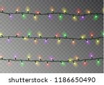 christmas lights string vector... | Shutterstock .eps vector #1186650490